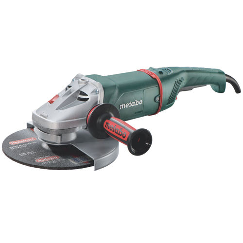 "Metabo W22-230 230mm (9"") Low Vibration Angle Grinder - with Dead Mans Paddle Switch 110V"