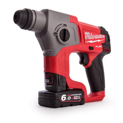 Milwaukee M12CH-602X M12 Fuel SDS Hammer Drill (2 x 6.0Ah Batteries)