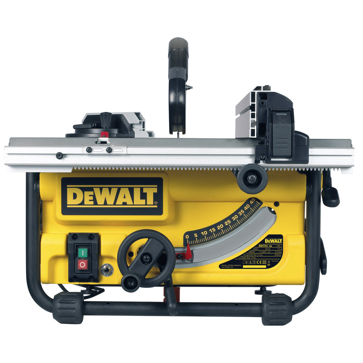 toolstop dewalt dw745 table saw heavy duty lightweight 10. Black Bedroom Furniture Sets. Home Design Ideas