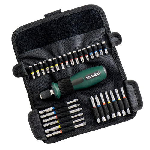 Metabo 6.26726 Assorted Bit Set Roll-Up SP (30 Piece)