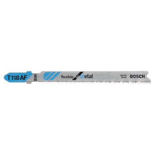 Bosch T118AF Metal cutting 1 - 3mm Jigsaw Blades (5 Pack)