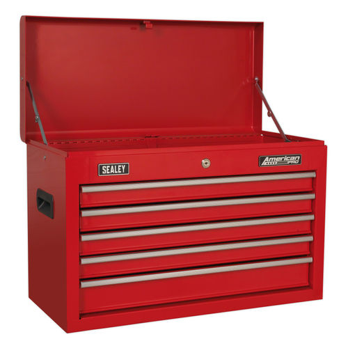 Sealey AP225 Topchest 5 Drawer With Ball Bearing Slides - Red