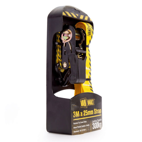 Van Vault S10677 Ratchet Strap 3 Metres x 25mm