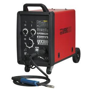 Sealey SUPERMIG200 Professional Mig Welder 200amp 240v With Binzel® Euro Torch