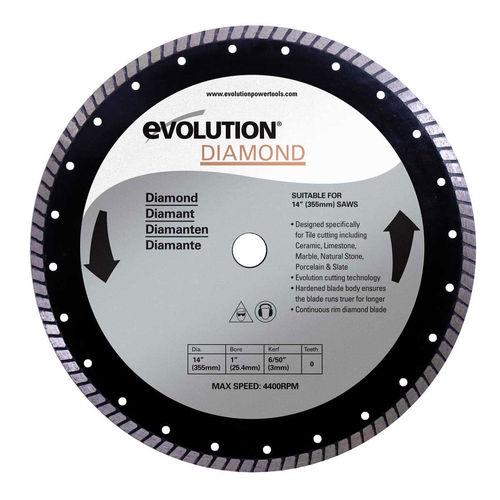 Evolution DB355 Rage 2 Diamond Cutting Blade 355mm