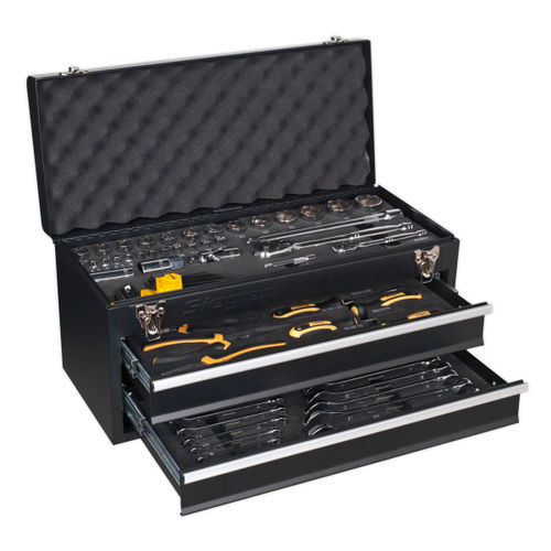 Siegen S01055 Portable Tool Chest 2 Drawer With 90pc Tool Kit