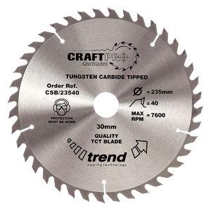 Trend CSB/23540 CraftPro Saw Blade 235mm x 40 Teeth x 30mm