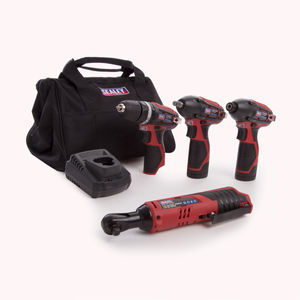 Sealey CP1200COMBO 12V Complete 4 Piece Kit - 2 Batteries, Charger & Bag