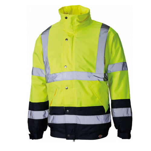 Dickies SA7005 High Visibility Two Tone Pilot Jacket - Large