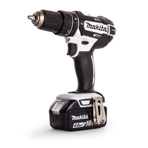 Makita DHP482RM1J Combi Drill in White 18V Cordless LXT Li-ion (1 x 4.0Ah Battery)