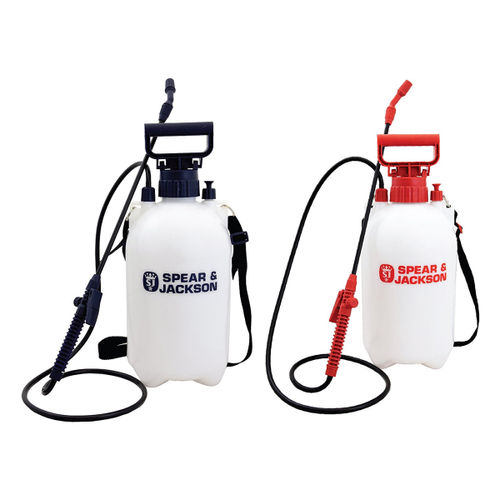 Spear & Jackson 5LPAPSTWIN 5 Litre Pump Action Pressure Sprayer Twin Pack