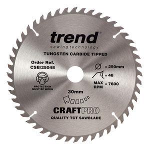Trend CSB/25048 CraftPro Saw Blade 250mm x 48 Teeth x 30mm