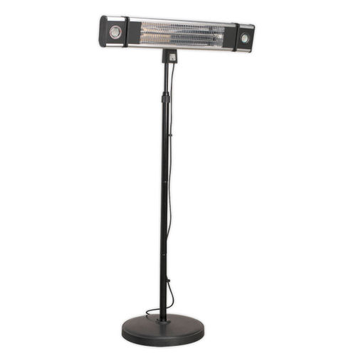 Sealey IFSH1809LR High Efficiency Carbon Fibre Infrared Patio Heater 1800w/240v With LED Lights & Telescopic Floor Stand