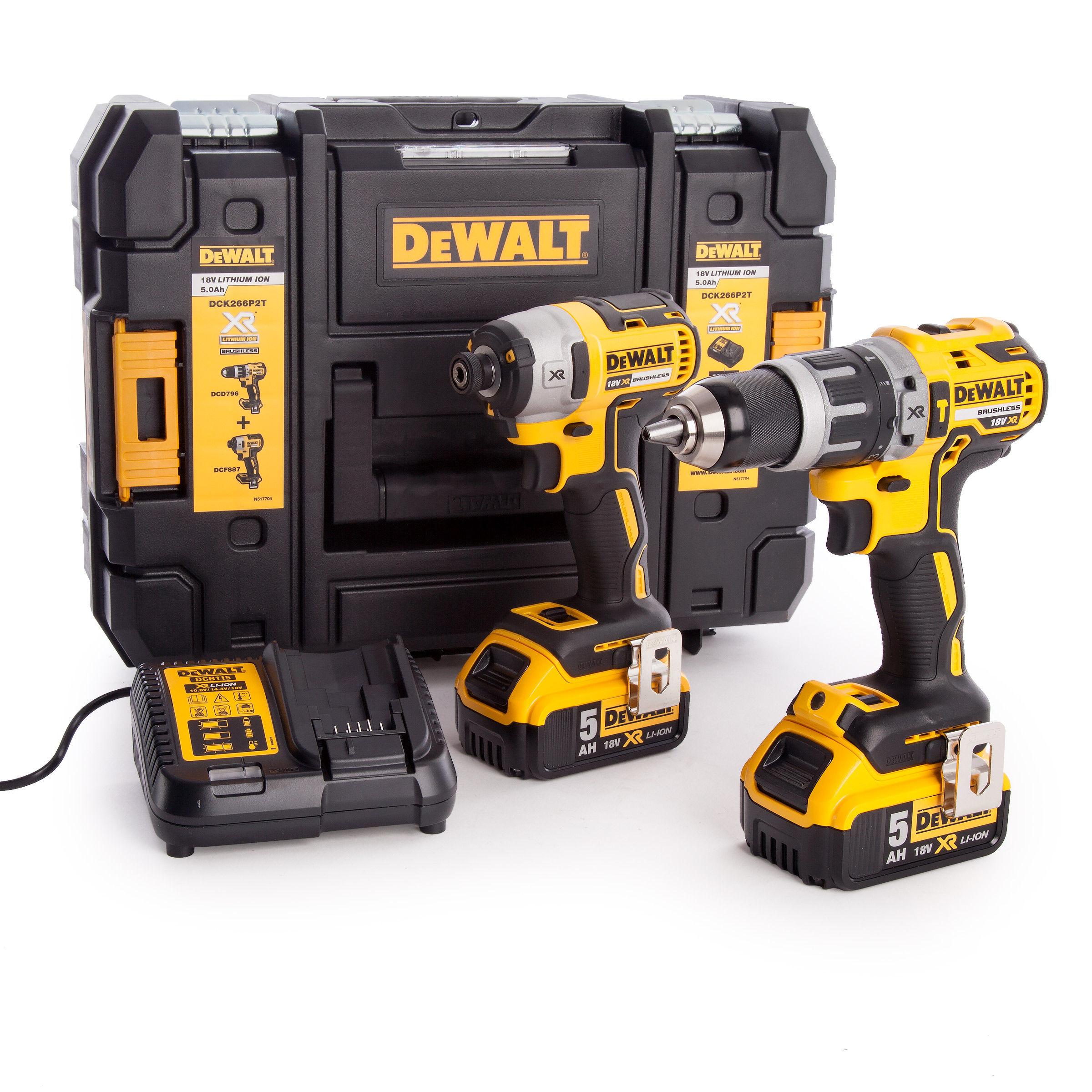 toolstop dewalt dck266p2t combi drill and impact driver xr. Black Bedroom Furniture Sets. Home Design Ideas
