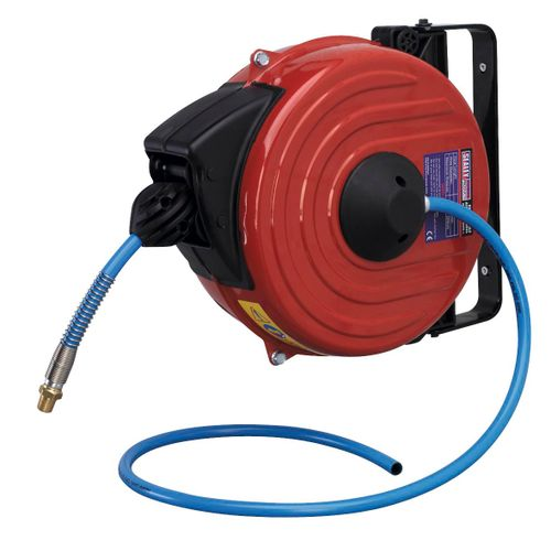 Sealey SA90 Retractable Air Hose Reel 12mtr ∅8mm Id Tpu Hose