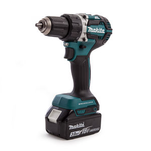 Makita DDF484 Cordless Drill Driver with DC18RC 18V Charger (1 x 3.0Ah Battery)