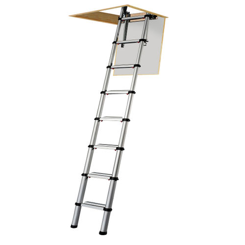 Youngman 301000 Telescopic Loft Ladder Aluminium 2.6 Metres / 8.53 Feet