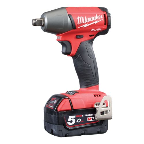 Milwaukee M18FIW12-502X M18 FUEL Impact Wrench with Friction Ring 1/2 Inch Drive (2 x 5.0Ah Batteries)