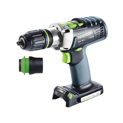 Festool 574701 18V Cordless Percussion Drill PDC 18/4 Li-Basic QUADRIVE (Body Only)