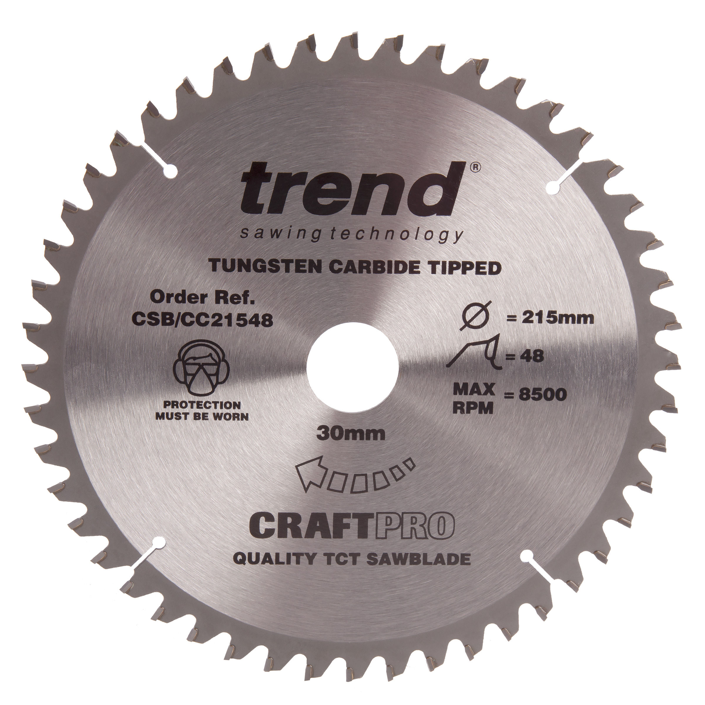 Trend CSB//21548 Craft Saw Blade 215mm x 48T x 30mm