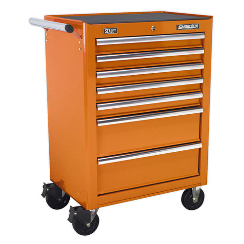 Sealey AP26479TO Rollcab 7 Drawer With Ball Bearing Runners - Orange