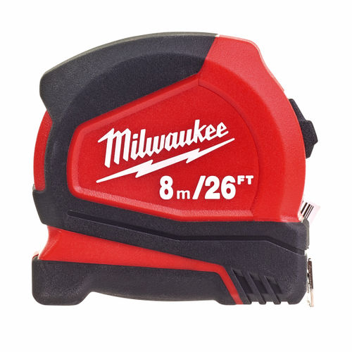 Milwaukee 4932459596 Pro Compact Tape Measure (8 Metres / 26ft)