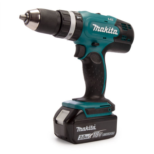 Makita DHP453 18V Combi Drill (1 x 3.0Ah Battery) with 101 Piece Accessory Set