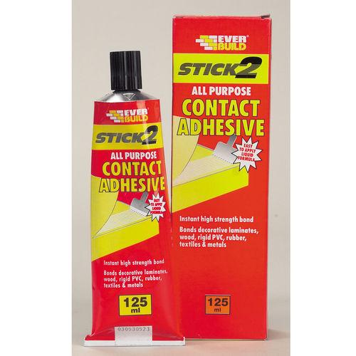 Everbuild CON125 Stick 2 All Purpose Contact Adhesive Beige 125ml