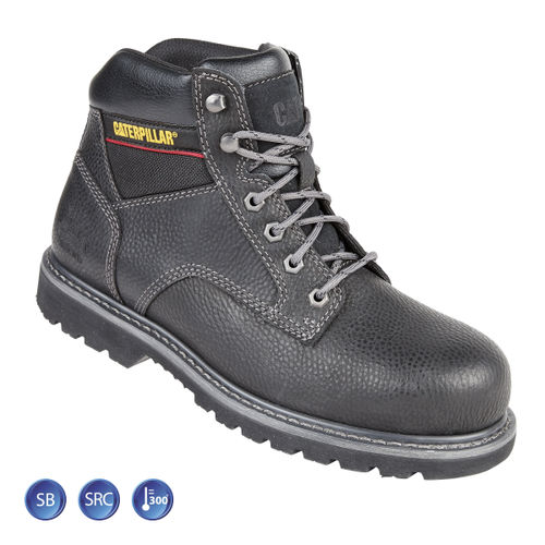 Caterpillar 7001 Black Goodyear Welted SB Tracker Safety Boot (Heat and Slip Resistant) - Size 5