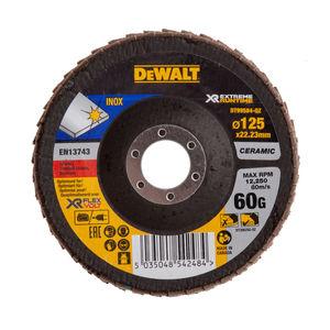 Dewalt DT99584-QZ Flap Disc XR FlexVolt Extreme Runtime 125mm x 22.23mm 60 Grit