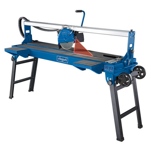 Scheppach FS4700 1200mm Sliding Tile Saw + Folding Base And Wheels 240V