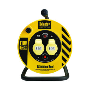 Defender Light Industrial Cable Reel 25 Metres - 16A 2 Way 1.5mm