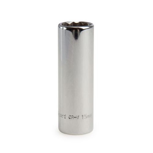 Draper 27108 (DT-MMB) Expert 15mm 3/8in Square Drive Hi-torq 12 Point Deep Socket