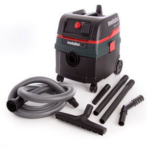 Metabo ASR25LSC All-Purpose Vacuum Cleaner with Electromagnetic Shaking and Automatic Power On