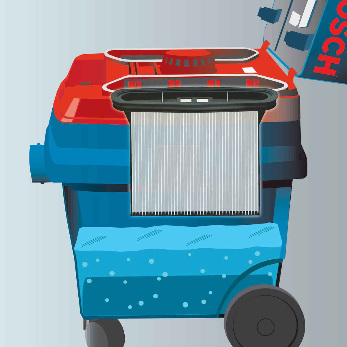 Bosch Gas 20 Sfc Wet And Dry Vacuum Cleaner Daftar Harga Terbaru High Pressure Listrik Ghp 5 55 Gas25 L All Purpose Dust Extractor
