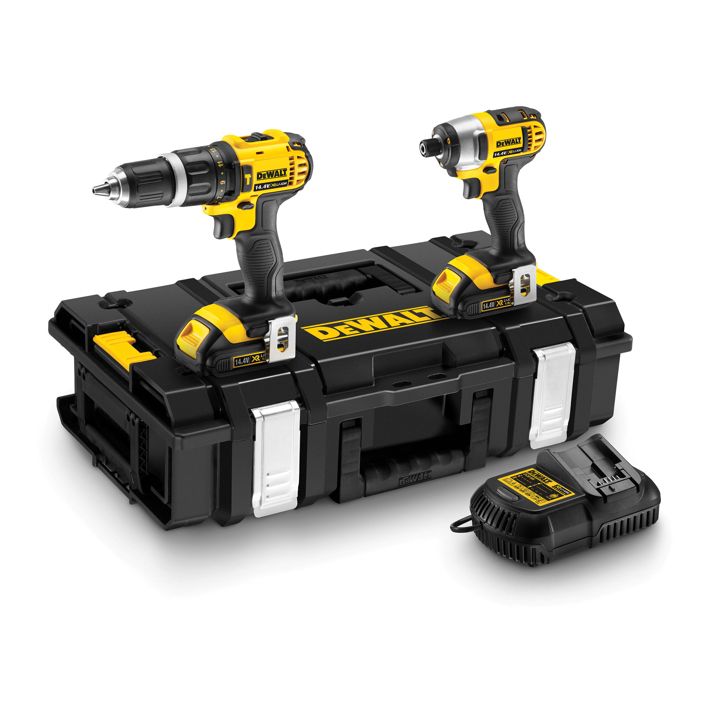 Toolstop Dewalt DCK235C2 14.4V XR Twin Pack