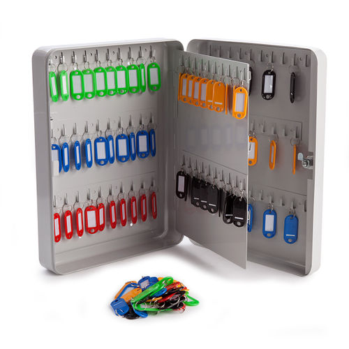 Sterling KC110 Grey Home and Office Key Cabinet - 110 Hooks