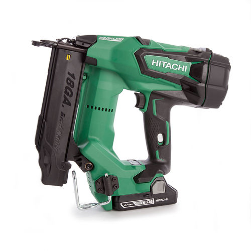 Hitachi NT1850CBSL/JX 18 Volt 18 Gauge Straight Brad Brushless Nailer (2 x 3Ah Batteries)