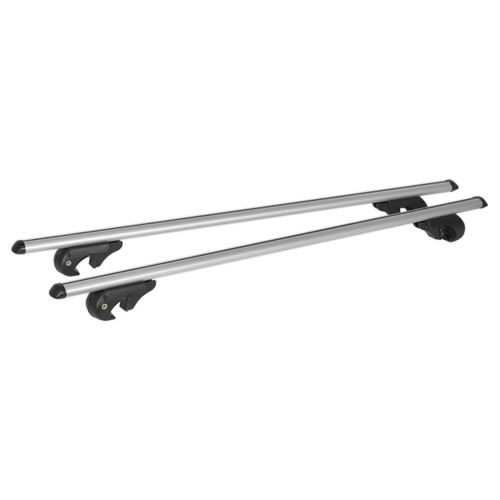 Sealey ARB135 Aluminium Roof Bars 1350mm For Traditional Roof Rails 90kg Max Load