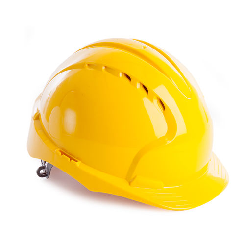 JSP AJF160-000-200 EVO3 Safety Helmet with Slip Ratchet - Vented - Yellow