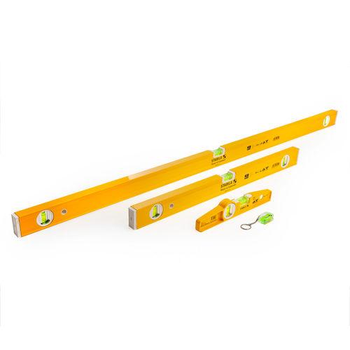 Stabila 17530 Level Set 120cm / 60cm / 25cm and Keyring with Case