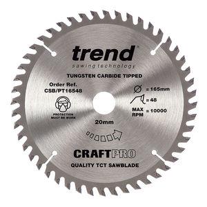 Trend CSB/PT16548 CraftPro Saw Blade 165mm x 48 Teeth x 20mm (2.0mm Kerf)
