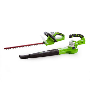 Greenworks GWTPHCB 24V Cordless Twinpack Hedgetrimmer / Blower (1 x 2.0Ah Battery)