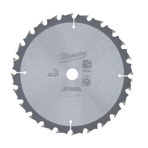 Milwaukee 4932352313 Circular Saw Blade 165mm x 15.8mm x 24T