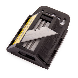 Toolstop IND92A-100D 2 Notch Heavy Duty Straight Blades for Trimming Knife 100 Pack (JB92A0217)