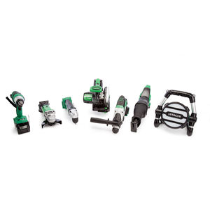 Hitachi 7 Piece 18V Cordless Kit with Charger and Large Bag (2 x 5.0Ah Batteries)