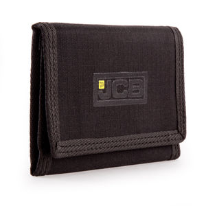 JCB W1 Nylon Weave Bi-Fold Wallet in Black