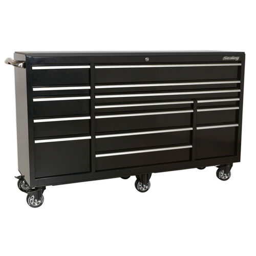 Sealey PTB183015 Rollcab 15 Drawer 1845mm Heavy-Duty Black