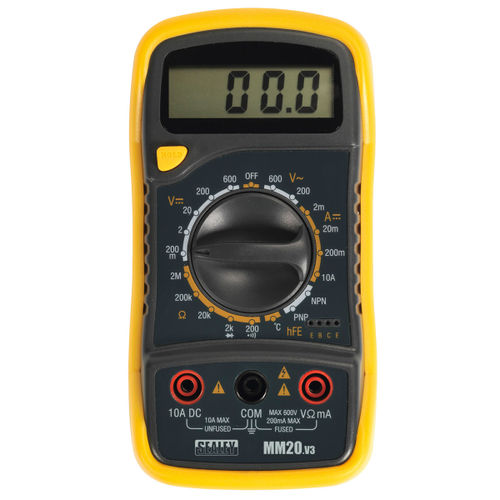 Sealey MM20 Digital Multimeter 8 Function With Thermocouple