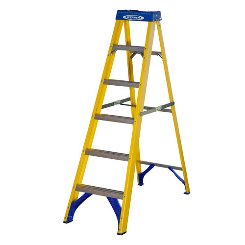 Werner 71606 Fibreglass Swingback Stepladder Trade 6 Tread (1.67m)